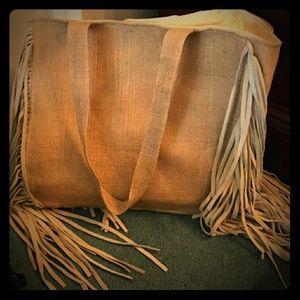 Muche St Muchette Gold Sparkle Fringe Bag